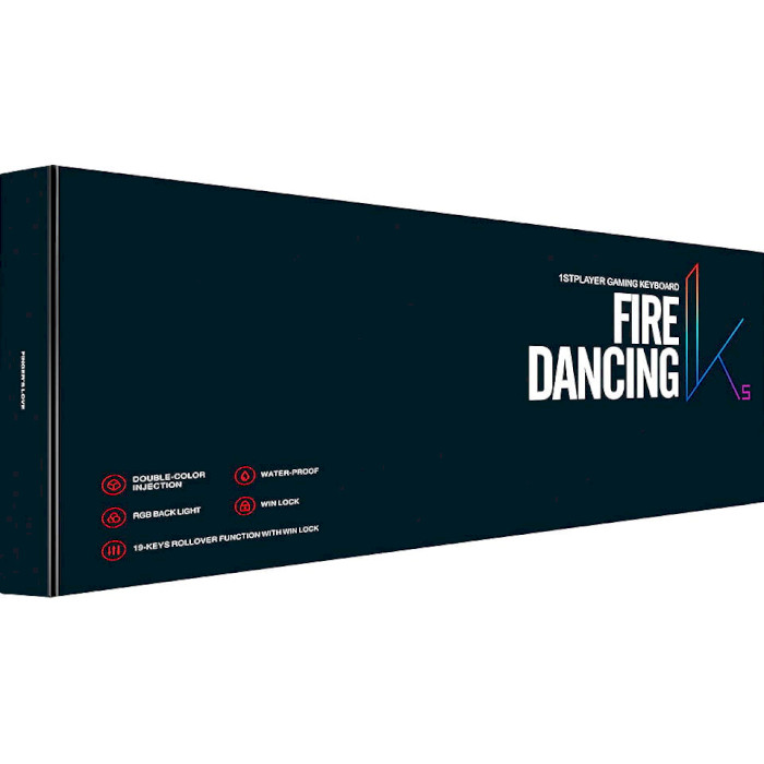 Клавіатура 1STPLAYER Fire Dancing K5 Black