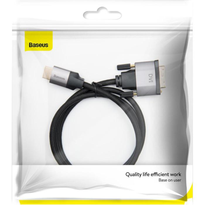 Кабель BASEUS Visual Enjoyment Series HDMI - DVI 1м Gray/Black (CAKSX-F0G)