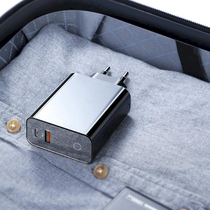 Зарядное устройство BASEUS Speed PPS Smart Shutdown & Digital Display Quick Charger Black (CCFSEU907-01)