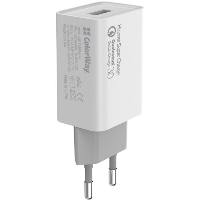 Зарядное устройство COLORWAY CW-CHS014Q-WT