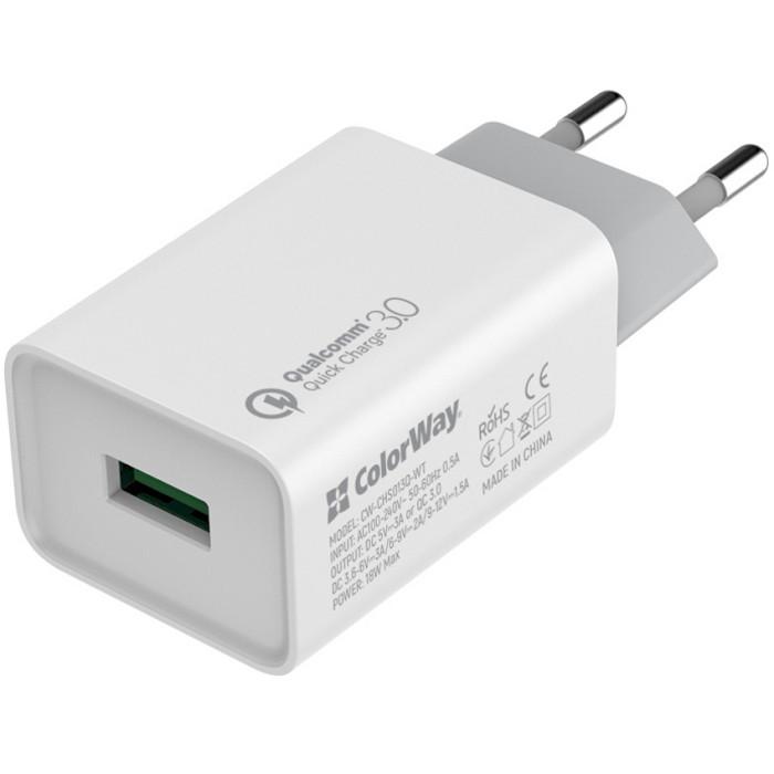 Зарядное устройство COLORWAY CW-CHS013Q-WT