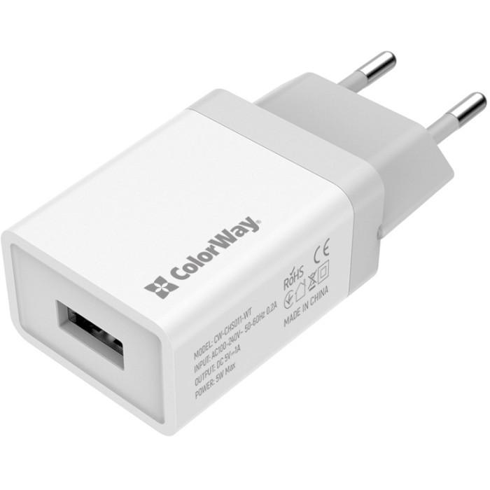 Зарядное устройство COLORWAY CW-CHS011-WT