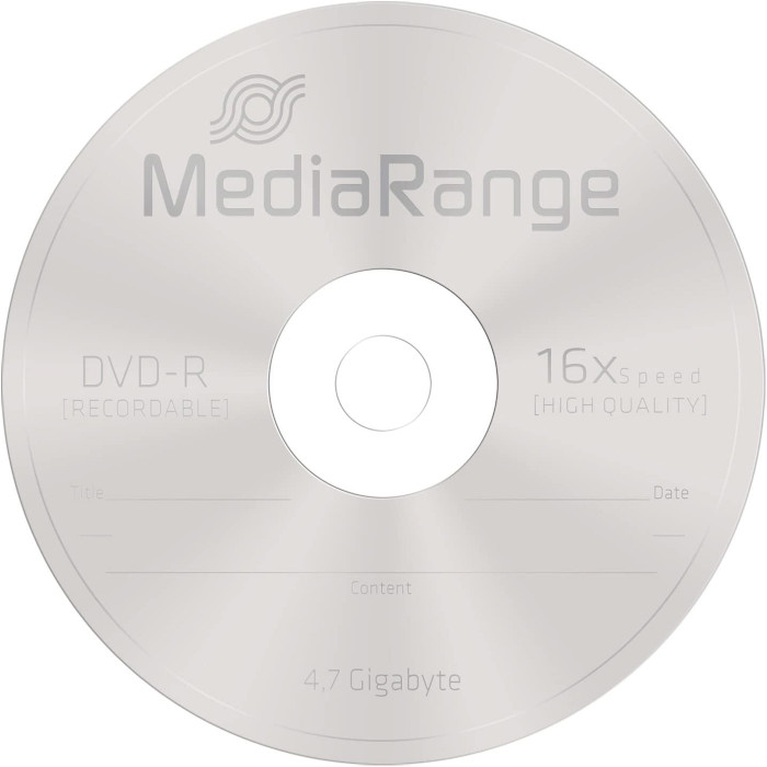 DVD-R MEDIARANGE Data Storage 4.7GB 16x 25pcs/spindle (MR403)