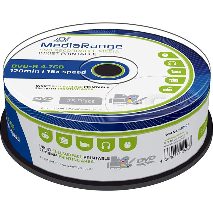DVD-R MEDIARANGE Data Storage 4.7GB 16x 25pcs/spindle (MR407)