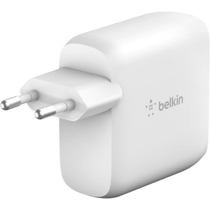 Зарядное устройство BELKIN Boost Charge Dual USB-C PD GaN Wall Charger 68W (WCH003VFWH)