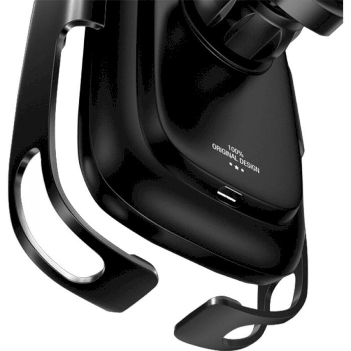 Автодержатель для смартфона с беспроводной зарядкой BASEUS Rock-solid Electric Holder Wireless Charger Kit Black (WXHW01-B01)