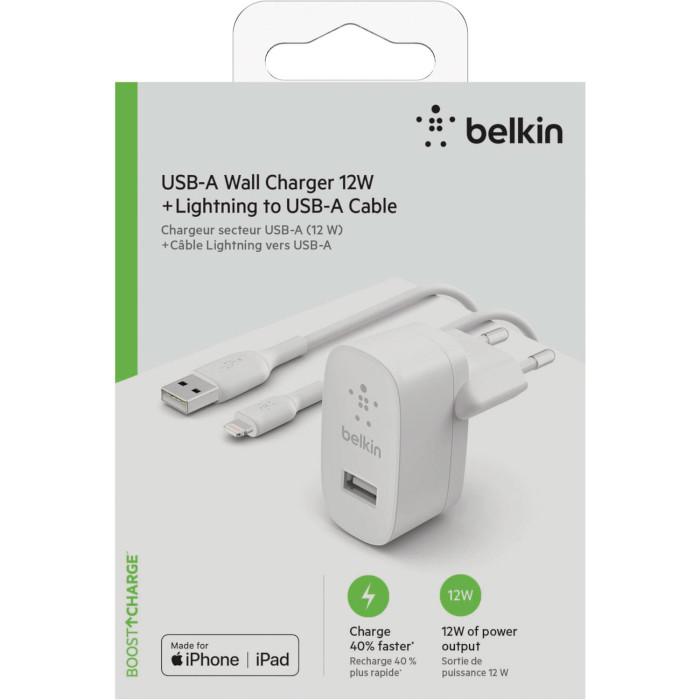 Зарядное устройство BELKIN Boost Up Charger USB-A + Lightning Cable (WCA002VF1MWH)
