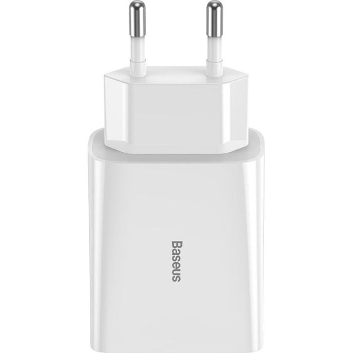 Зарядное устройство BASEUS Speed Mini QC Dual U Quick Changer 18W EU White (CCFS-V02)