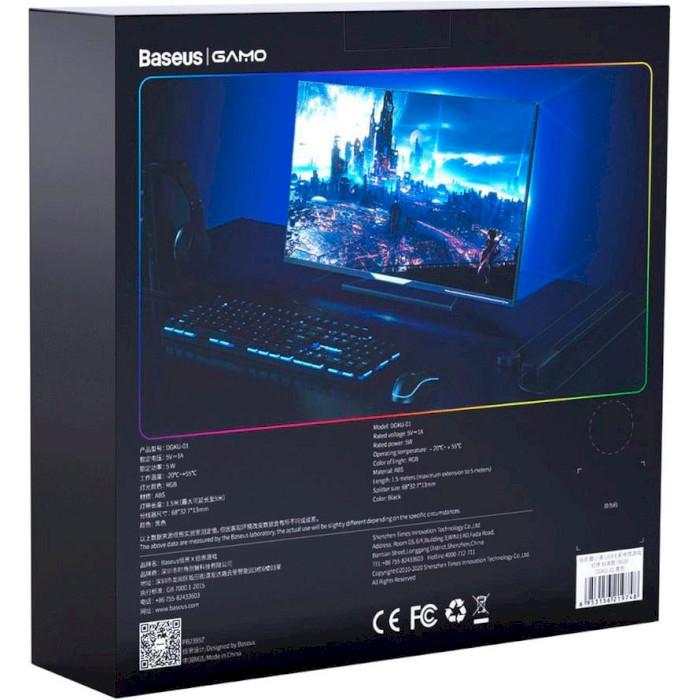 Светодиодная лента BASEUS Cool Black USB Colorful Electronic Game Light Strip Standard Version 1.5м RGB (DGKU-01)