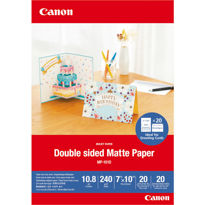 Папір CANON Double-Sided Matte 17.8x25.4см 240г/м² 20л (4076C006)