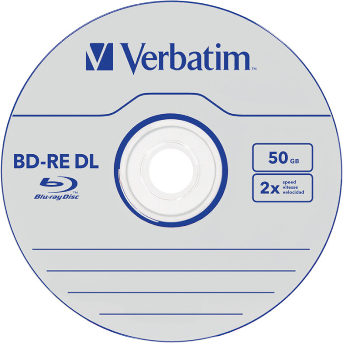 BD-RE DL VERBATIM SERL 50GB 2x 1pc/jewel (43759)