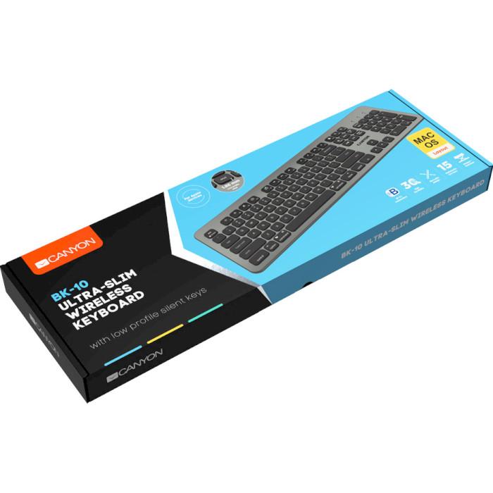 Клавіатура бездротова CANYON CND-HBTK10-RU