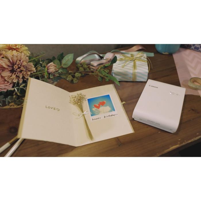 Мобільний фотопринтер CANON SELPHY Square QX10 White
