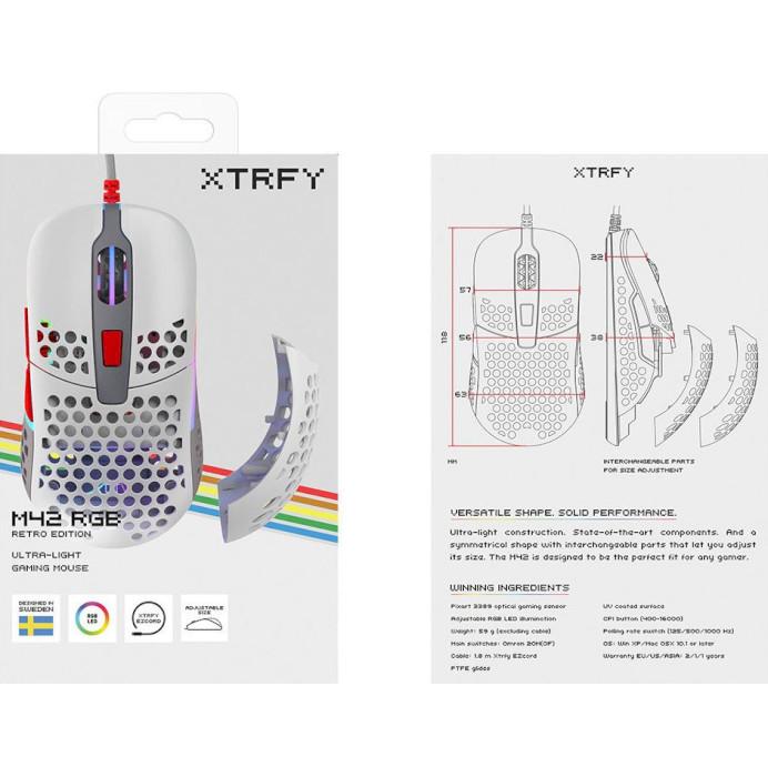 Мышь XTRFY M42 RGB Retro