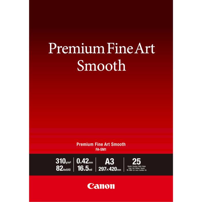 Фотопапір CANON Premium Fine Art Smooth FA-SM1 A3 310г/м² 25л (1711C003)