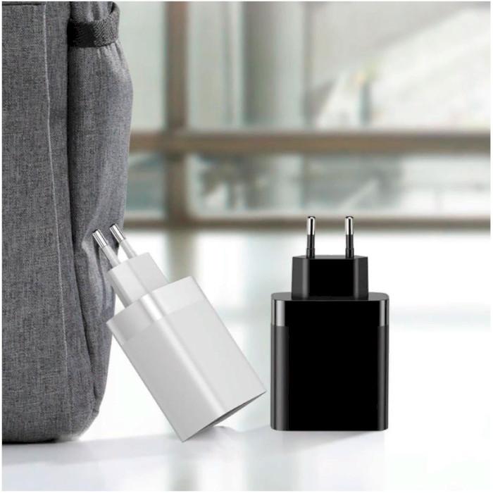 Зарядное устройство BASEUS Mirror Lake Digital Display 4USB 30W EU White (CCJMHB-B02)