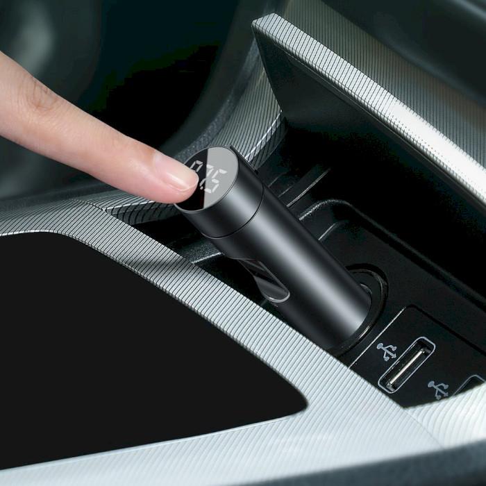 FM-трансмиттер BASEUS Energy Column Car Wireless MP3 Charger 18W Deep Gray (CCNLZ-C0G)