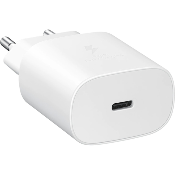 Зарядное устройство SAMSUNG 25W PD Travel Adapter White w/o cable (EP-TA800NWEGRU)