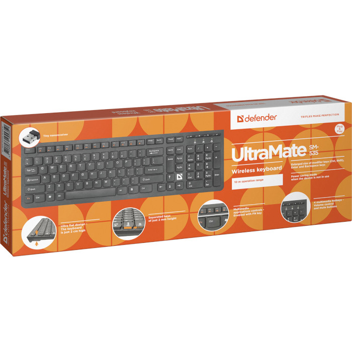 Клавіатура бездротова DEFENDER UltraMate SM-535 (45535)