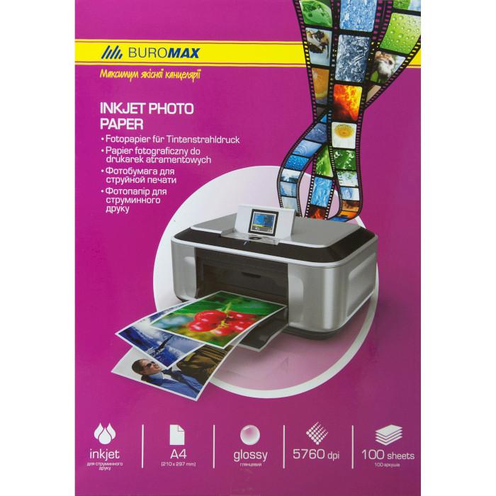 Фотопапір BUROMAX Ink Jet Photo Paper Glare A4 180г/м² 100л (BM.2220-4100)