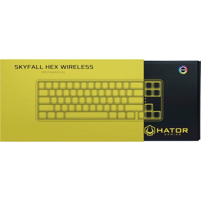 Клавіатура бездротова HATOR Skyfall HEX Black (HTK-665)