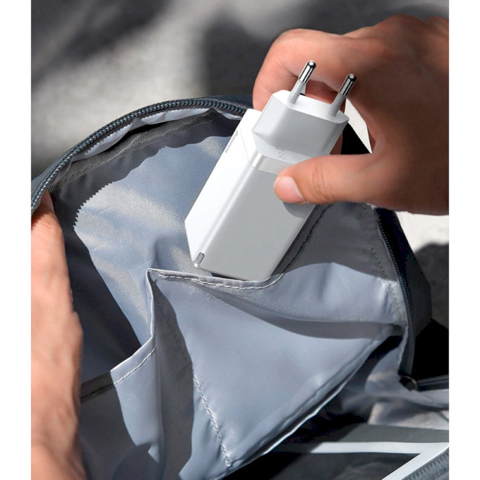 Зарядное устройство BASEUS GaN 2 Pro Quick Charger 65W White (CCGAN2P-B02)