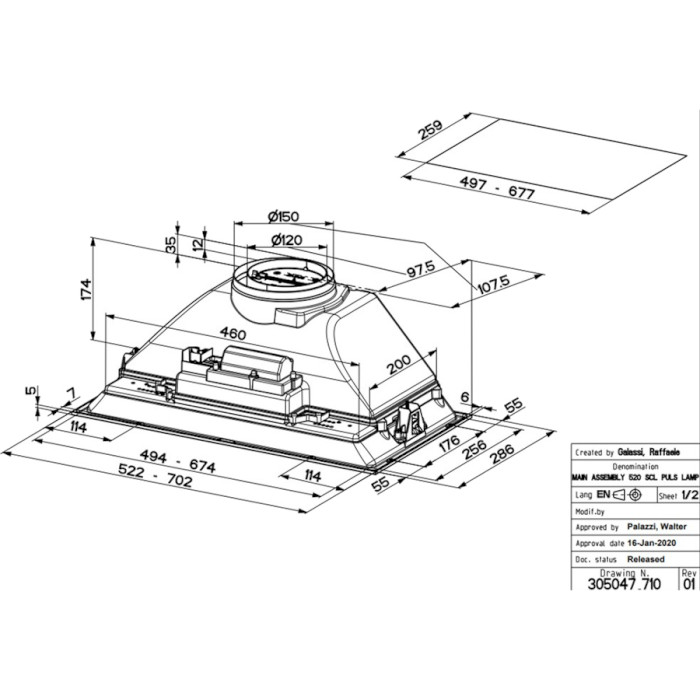 Вытяжка FABER Inka ICH SS A70 (I.Smart HCS) (305.0599.321)