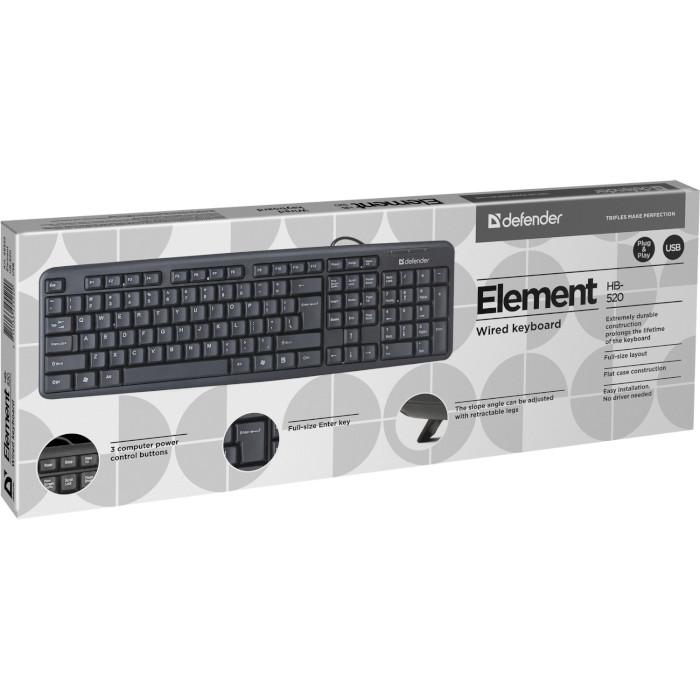 Клавіатура DEFENDER Element HB-520 Black (45522)
