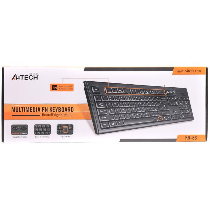 Клавіатура A4TECH KR-83 USB Black