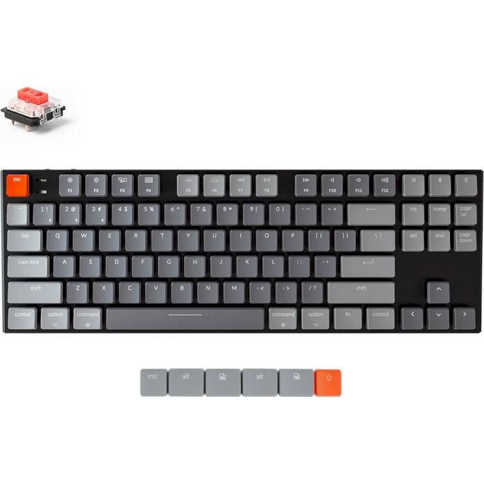 Клавіатура бездротова KEYCHRON K1 87-key RGB Gateron Red Switches