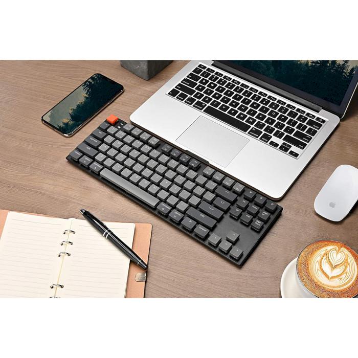 Клавіатура бездротова KEYCHRON K1 87-key White Backlight Gateron Blue Switches