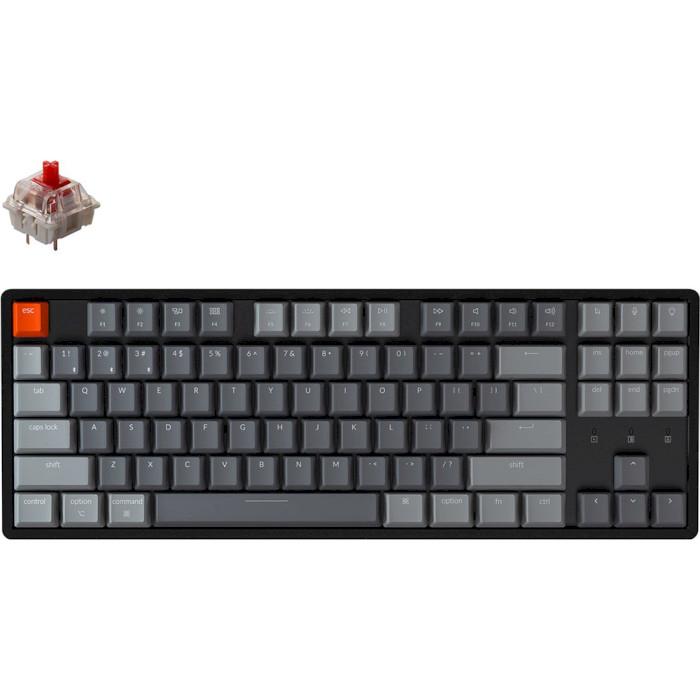 Клавіатура бездротова KEYCHRON K8 Aluminum Frame RGB Gateron Red Hot-swappable Switches