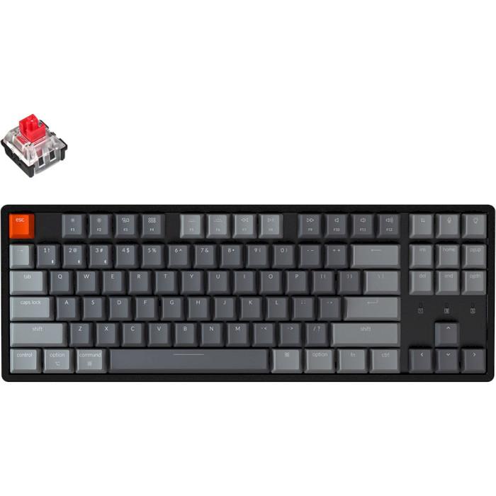 Клавіатура бездротова KEYCHRON K8 Aluminum Frame RGB Optical Red Switches