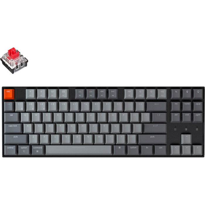 Клавіатура бездротова KEYCHRON K8 RGB Optical Red Switches