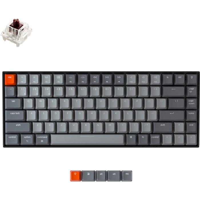Клавіатура бездротова KEYCHRON K2 White Backlight Gateron Brown Switches