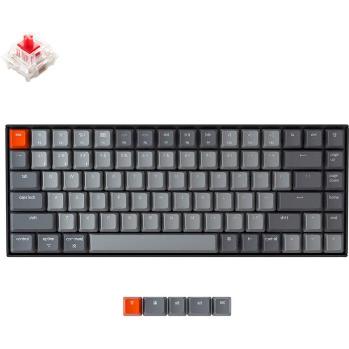 Клавіатура бездротова KEYCHRON K2 White Backlight Gateron Red Switches