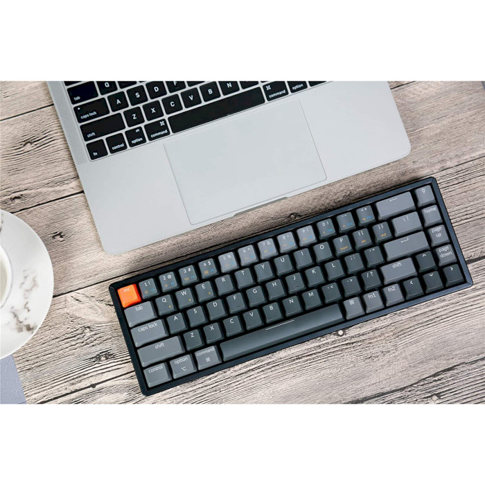 Клавіатура бездротова KEYCHRON K6 Aluminum Frame RGB Gateron Brown Hot-swappable Switches