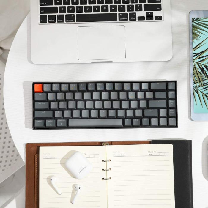 Клавіатура бездротова KEYCHRON K6 White Backlight Optical Red Switches