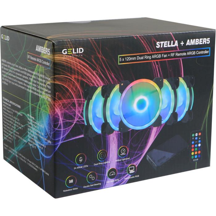 Комплект вентиляторов GELID SOLUTIONS Stella ARGB Fan Bundle 5-Pack (RF-RGB-MP-01)