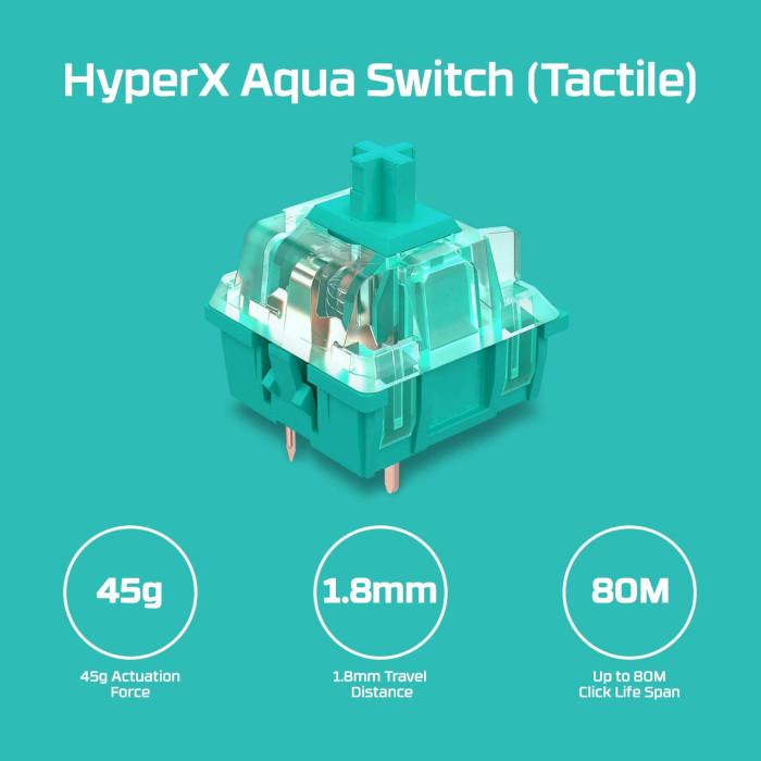 Клавіатура HYPERX Alloy Origins Switch Aqua (HX-KB6AQX-US)