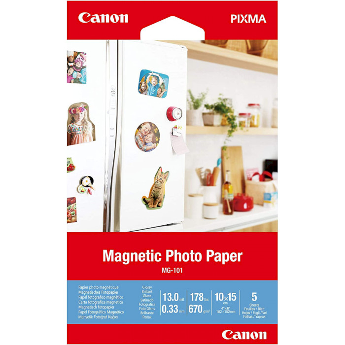 Папір магнітний CANON Magnetic Photo Paper MG-101 10x15см 670г/м² 5л (3634C002)