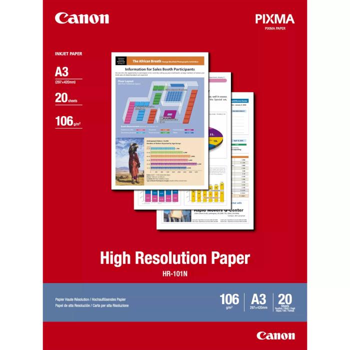 Фотопапір CANON High Resolution Paper HR-101 A3 106г/м² 20л (1033A006)