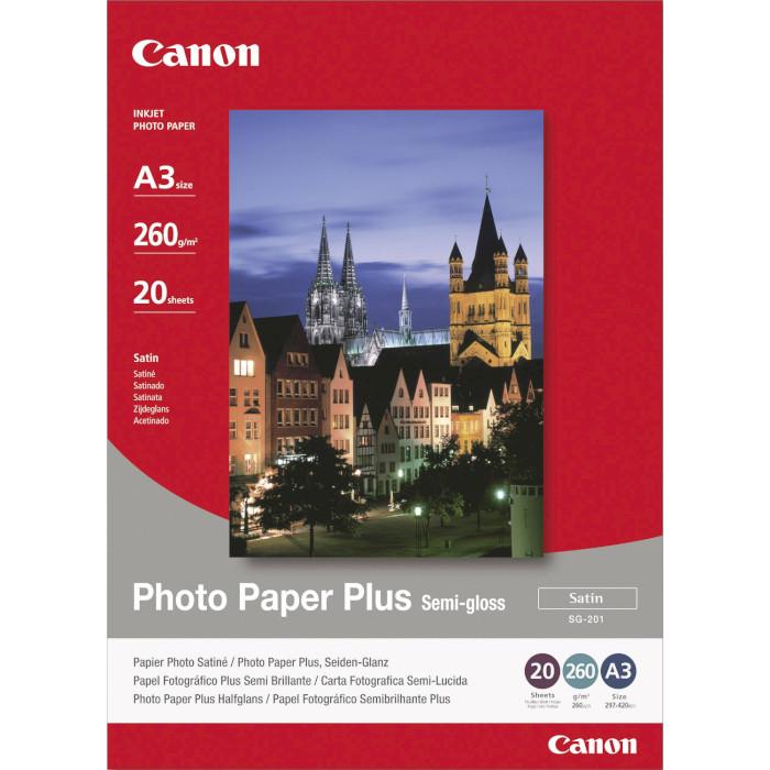 Фотопапір CANON Photo Paper Plus Semi-Gloss SG-201 A3 260г/м² 20л (1686B026)