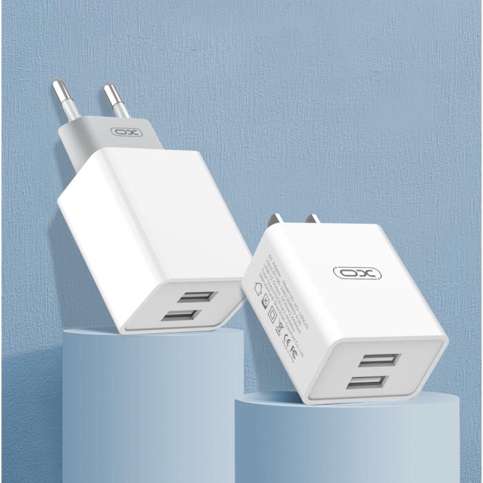 Зарядное устройство XO L65 White + кабель Apple Lightning