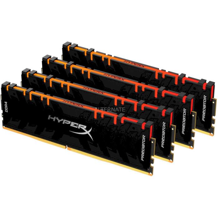 Модуль памяти HYPERX Fury RGB DDR4 3200MHz 64GB Kit 4x16GB (HX432C16FB3AK4/64)