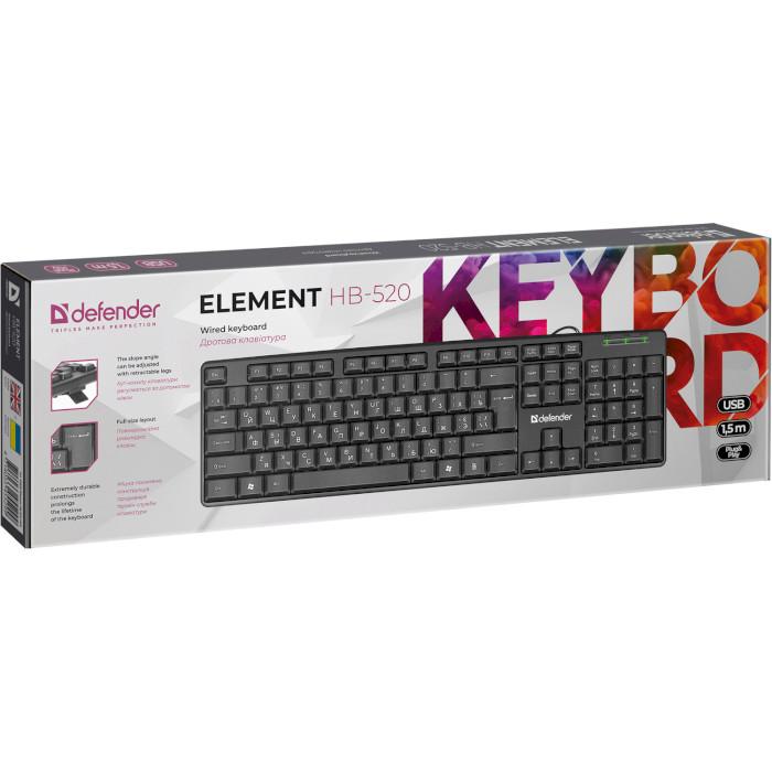 Клавіатура DEFENDER Element HB-520 UA Black (45529)
