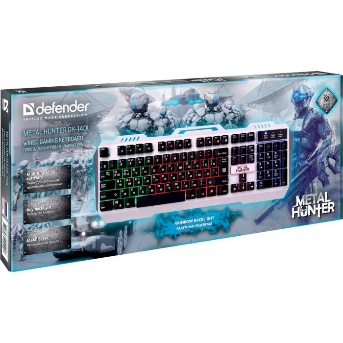 Клавіатура DEFENDER Metal Hunter GK-140L (45140)