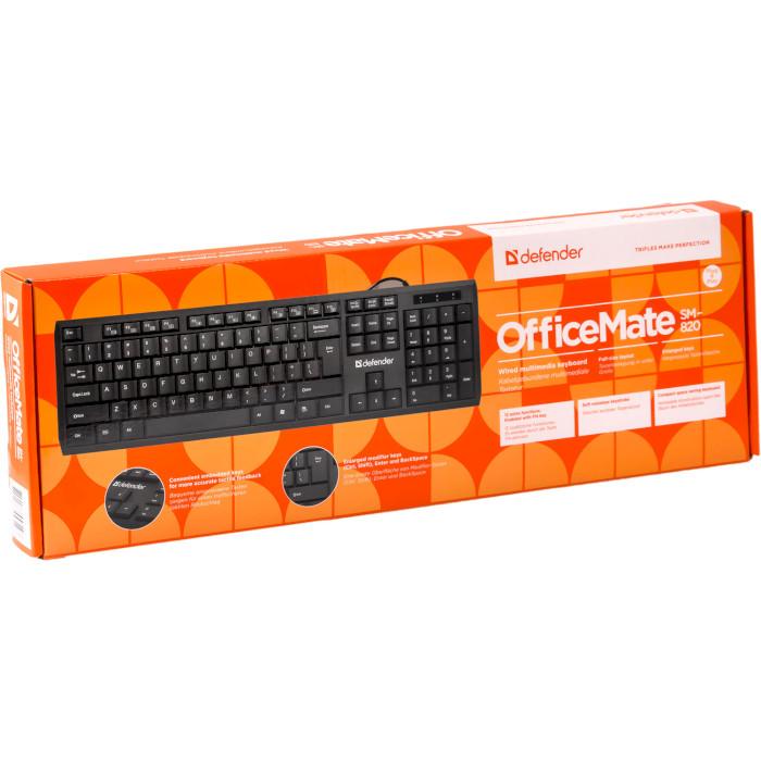 Клавіатура DEFENDER OfficeMate SM-820 (45820)