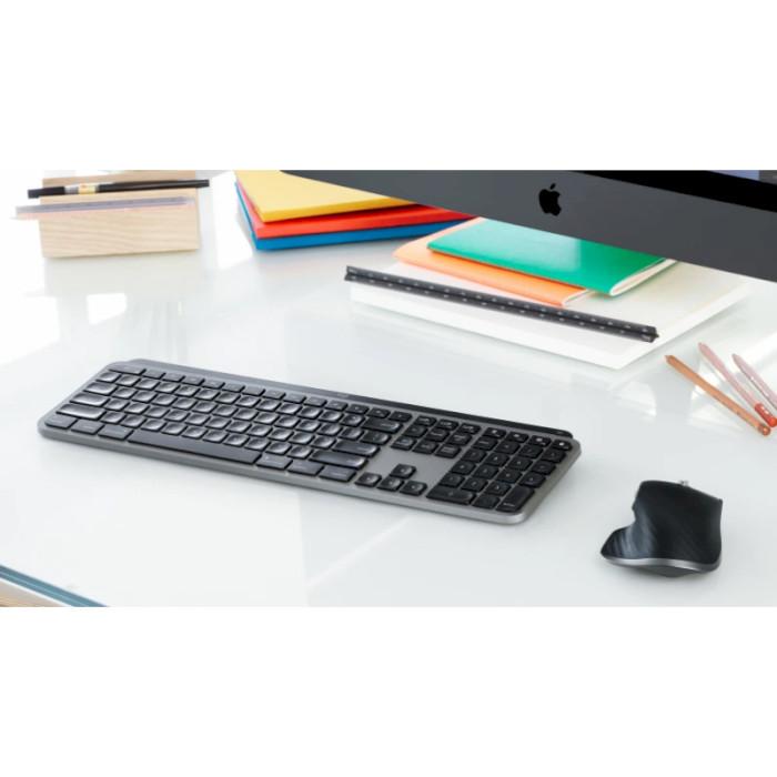 Клавіатура бездротова LOGITECH MX Keys for Mac Space Gray (920-009558)