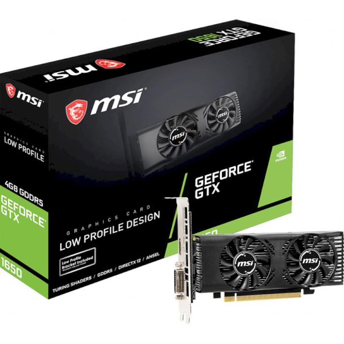 Відеокарта MSI GeForce GTX 1650 4GT LP